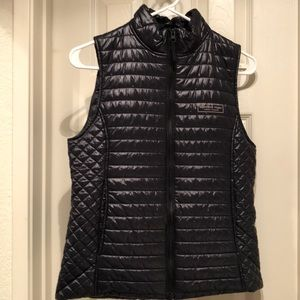 Vineyard Vines Puffer Quilted Shiny Vest Black XS
